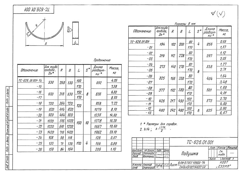Опора скользящая хомутовая ТС-626.00.000. Страница 14