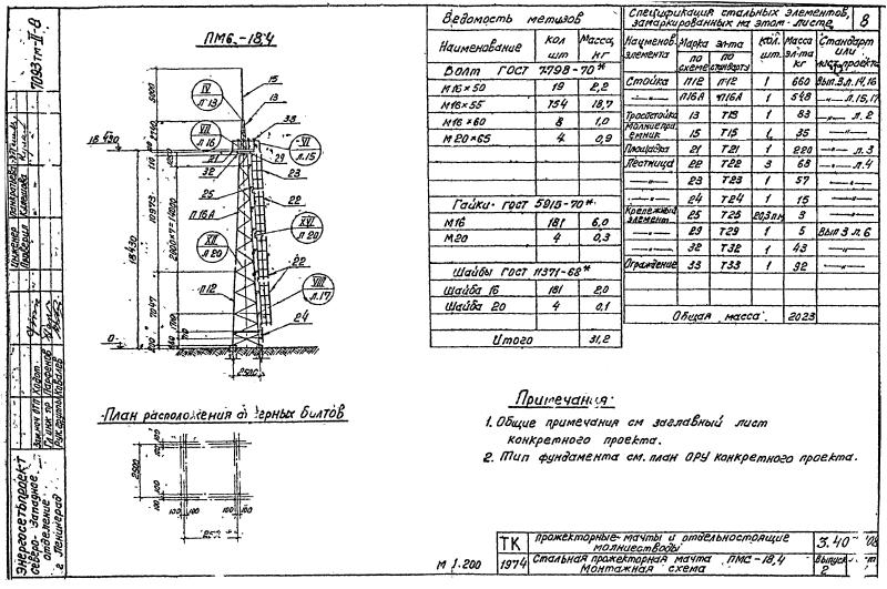 Прожекторные мачты ПМС 18,4. Страница 01